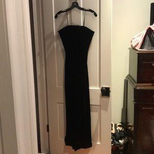 Ralph Lauren black velvet strapless dress-Sz10